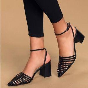 Marc Fischer Black Carmela Pointed Toe High Heels